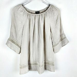 Off the Shoulder Boho Gypsy Peasant Tunic Top
